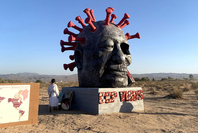 """张杰:谁是破坏""""中国病毒""""雕塑的黑手?"""