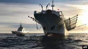 解放军攻台演习征用万吨民用客滚船