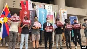 这边中共庆十一国庆,那边在台港人挺身抗中