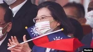 """台湾庆双十国庆,蔡英文演说:""""四个坚持""""不向中国屈服"""