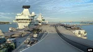 英航母战斗群造访新加坡