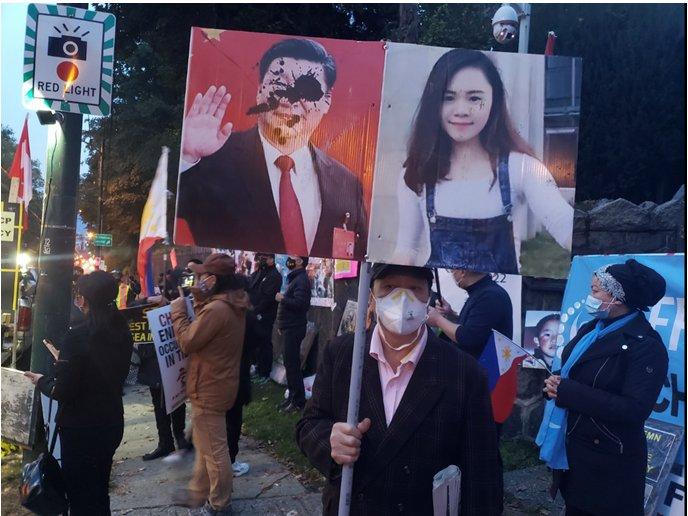 施英:一周新闻聚焦:港台和美加等地十一期间发起多起抗议中共专制统治集会活动